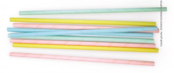"""Trinkhalme Papier, 20 Stk. """"pastel"""""""