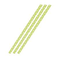 36 Papiertrinkhalme, grün mit weißen Punkten, 197 x 6 mm