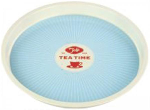 Tee Tablett, 31x2.6 cm, blau
