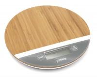Pebbly Küchenwaage rund bambus grau Ø 19 cm