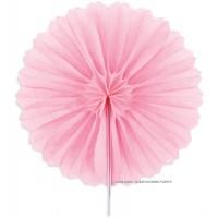 Dekokugeln Alveolenrosette klein 3 Stk. Papier rosa Ø15cm