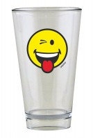 Smiley Glas, Emoticon zwinkern 30 cl
